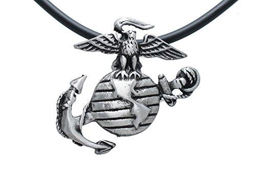Usmc Marine Corp Insignia Semper Fi Pewter Pendant + 18