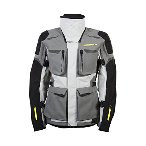 ScorpionExo XDR Yukon Men's Textile Adventure Touring Motorcycle Jacket (Grey, X-Large)