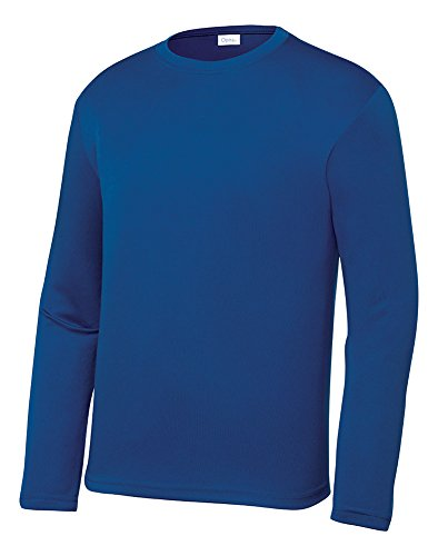 Opna Youth Athletic Performance Long Sleeve Shirts for Boy's or Girl's – Moisture Wicking - Polyester Youth Baseball