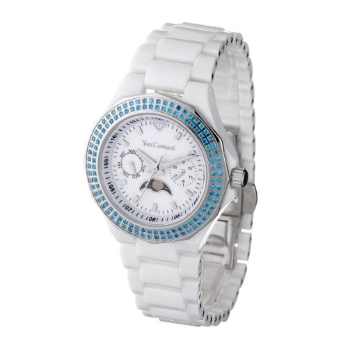 Yves Camani Laval YC1009-C Ladies Watch Quartz Analogue Ceramic White Blue