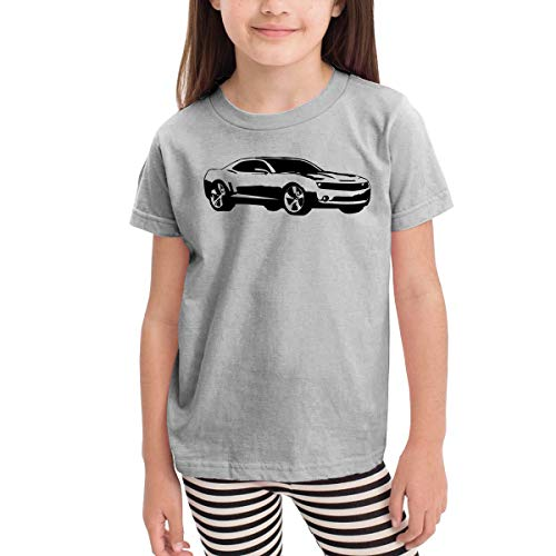 HIGASQ Unisex Baby Camaro Car O Neck Toddler's Short Sleeve T Shirt for 2-6 Boys Girls Gray