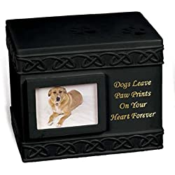 Angel Star 5-Inch Pet Urn for Dog (Black)