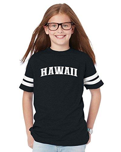 Hawaiian Islands Maui Kauai OAHU Kona Hilo Big Island Youth Football Fine Jersey Tee (Kona Cotton Wholesale)
