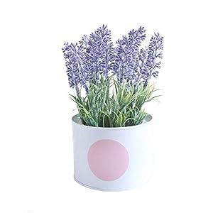 zzJiaCzs Artificial Flower,1Pc Mini Faux Flower Lavender Bonsai DIY Living Room Party Desktop Decor - Blue Purple 37
