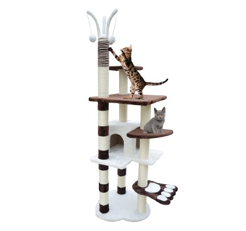 Frugah New Kitty Cat Scratcher 68″ Height Cat Tree Post Condo Tower Toy Pet Furniture, My Pet Supplies