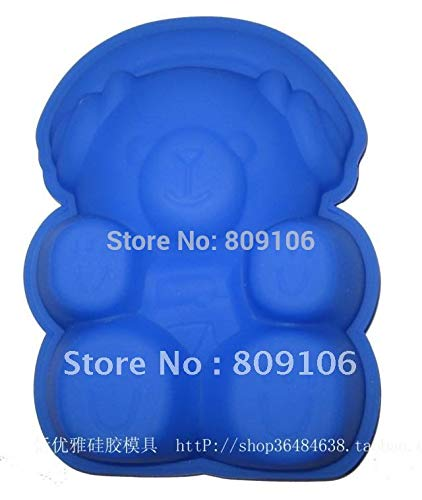 1 piece DIY silicone cake mold/Size M Winnie baby with headphone music 16123.7cm/ soap mould