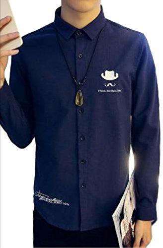 【WildCats】メンズ長袖シャツ英字刺繍ジェントルマンハットひげトップス人気6colorロングシーズンオシャレカッコいいカジュアルエコバッグ付き