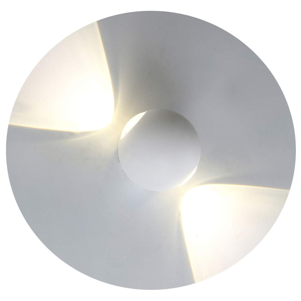 Ralbay LED Wall Light 6W IP54 Up Down Wall Lights Wall Lamp Perfect for Living Room Hallway Bedroom Bathroom Corridor Stairs Wall Lighting Night Light, White Light 4000K