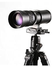 Hersmay 420-800 mm f/8.3-16 Super Tele Zoom Lens Telelens Zoomlens Vario-lens voor Canon EOS 1300D, 60D, 70D, 1200D, 1100D, 1000D, 760D, 750D, 700D, 650D, 600D, 550D 50D 50D 50D DSLR/50D SLR-camera