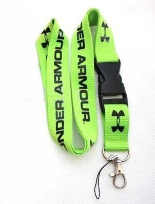 c9387cb776 Amazon.com : Under Armour Lanyard Keychain Holder Neck Strap with Buckle  (Green) : Office Products