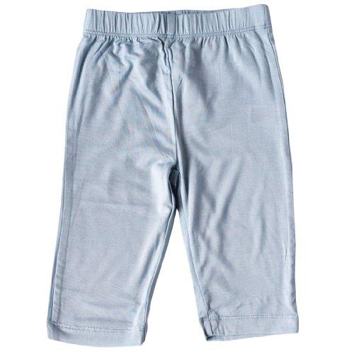 Silkberry Baby Bamboo Unisex-Baby Newborn Jersey Pants Blue 0-3m