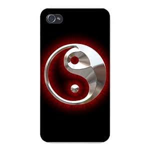 Apple Iphone Custom Case 5c White Plastic Snap on - Ninja Yin Yang Emblem Logo