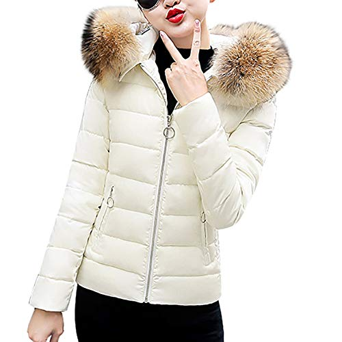 - Clearance Winter Warm Overcoat,ZYooh Women's Faux Fur Hooded Short Slim Cotton-Padded Down Jackets Parka (White,XL)
