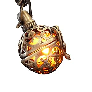 UMBRELLALABORATORY Steampunk FIRE Necklace – Pendant Charm Locket Jewelry- Great Gift-Bronze-Costume Accessory