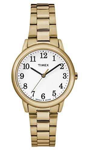 White Dial Stainless Steel Bracelet - Timex Women's Easy Reader White Dial with a Stainless Steel Bracelet Watch TW2R23800