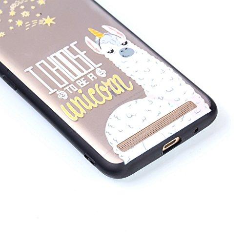 Funda Xiaomi Redmi Note 5A,ToDo Transparente PC Plástico Case Dura Trasera + TPU Bordes Silicona Suave Bumper Carcasa para Xiaomi Redmi Note 5A Tapa Trasera Caso Funda [Ultra Ligero] [Ultra Delgado] C Alpaca