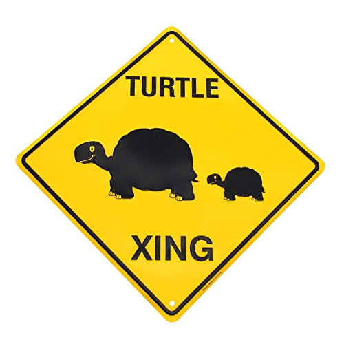 - Caution Slow Turtle Crossing Funny Metal Sign Yard Decor Garden Art