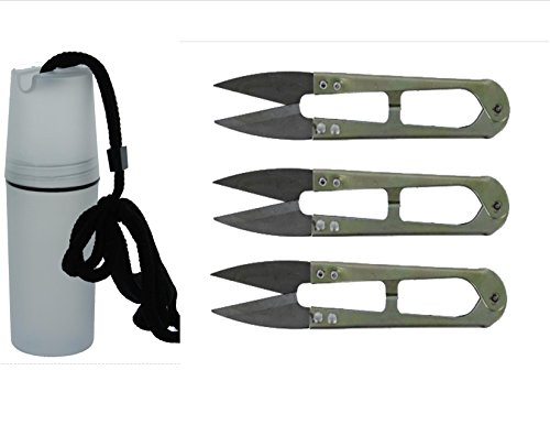 Bonsai Stainless Steel Shear (SIS BONSAI TREE TRIMMER PRUNER SHEARS - STAINLESS STEEL - SET OF 3 PC | HANDS FREE CAPSULE TOTE INCLUDED | KEEP YOUR SCISSORS HANDY)