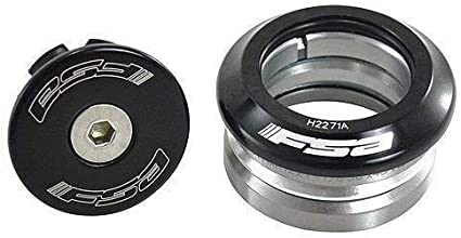 "FSA ORIBT IS INTEGRATED 36//45 BEARING 1-1//8/"" THREADLESS BLACK BICYCLE HEADSET."