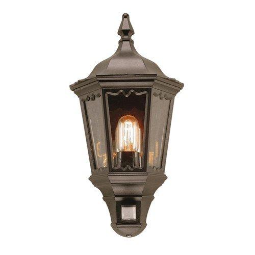 1 Light Outdoor Wall Security Light PIR Sensor: Yes Elstead Lighting MD7 PIR BLACK