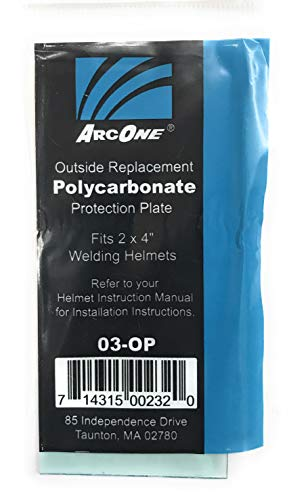 ArcOne 03-OP Clear Polycarbonate Protection Plate for 2 x 4 Helmets (040