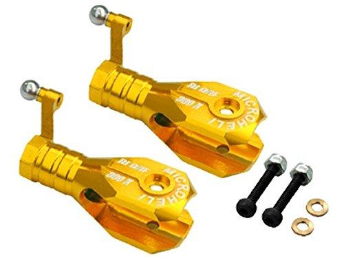 Blade Grip Bearing - Microheli Aluminum Main Blade Grip w/ Thrust Bearing (GOLD) - BLADE 300X
