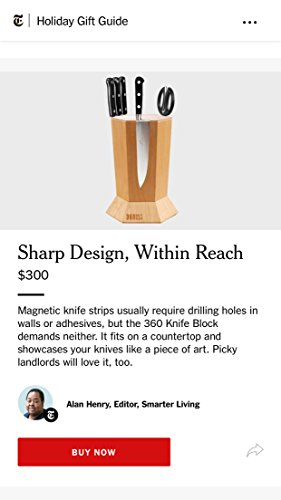 360 Knife Block - (Walnut) ROTATING - Magnetic - BEST Universal Knife Block by 360 Knife Block (Image #8)