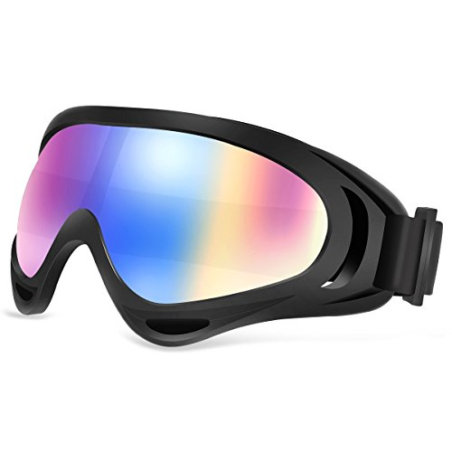 Ski Goggles SiFREE UV400 Protective with Windproof Dustproof Anti-shock Anti-Glare Lenses Skate Glasses for Ice-Skate Snowboard Snowmobile Bicycle Motorcycle