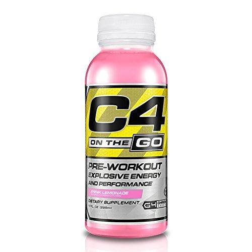 Cellucor  C4 On The Go  Explosive Energy Pre Workout Supplement  Pink Lemonade  10 Oz  12 Count