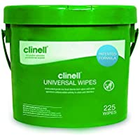 Clinell Universal Sanitising Wipes Bucket, 225 Count