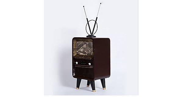 WYJ Creatividad de modelo de TV antigua hacer el viejo moda decoración del hogar artesanales decoración bar retro mobiliario: Amazon.es: Hogar