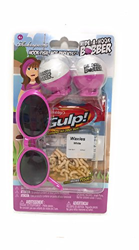 SHAKESPEARE Safety Bobbers and Hooks for Kids with Glasses (Pink)