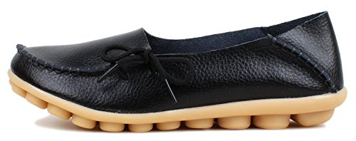 century-star-womens-knotted-lace-loop-leather-loafer-moccasin-boat-shoes-slipper-moccasin-black-9-bm