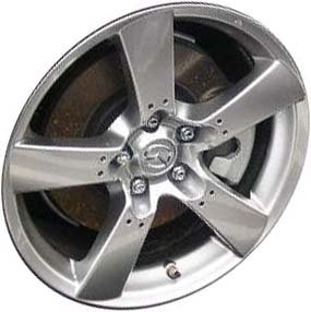 2003-2008 | MAZDA | RX8 | 18x8 | 5-114.3 | 5 SPOKE | FACTORY OEM WHEEL RIM | REMANUFACTURED | SILVER | Hollander# 64868 | MPN# 9965108080