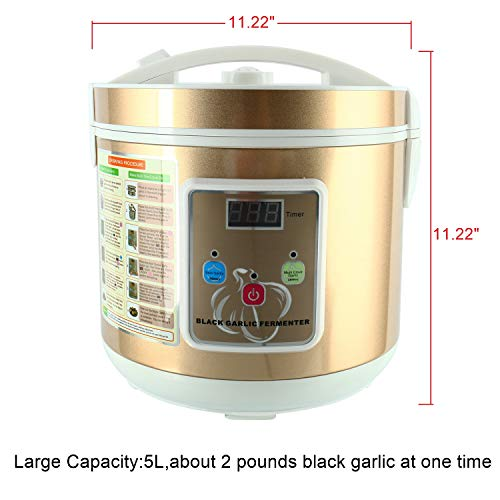Homend 5L Black Garlic Automatic Fermenter, Black Garlic Ferment Box, Garlic Maker Recycle, Intelligent Fermentation Machine, Health Food Maker, Home/Kitchen Utensil by Homend (Image #5)