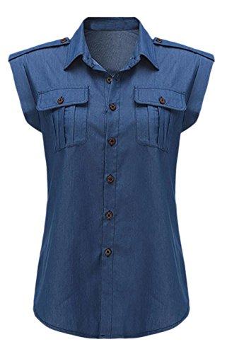 confit you - Camisas - Manga corta - para mujer azul oscuro