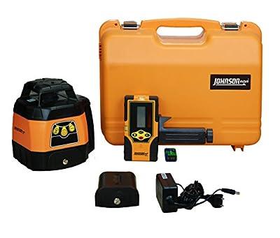 Johnson Level & Tool 40-6551 Electronic Self-Leveling Horizontal Exterior Rotary Laser Kit