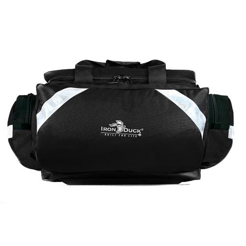 Iron Duck 32325-B Ultra Soft Box Plus Trauma Bag with Deluxe Ergonomic Padded Shoulder Strap and Nylon Handles, Nylon, Black