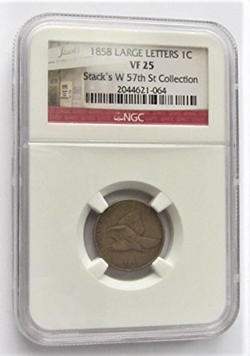 - 1858 Flying Eagle Large Letters Cent VF25 NGC