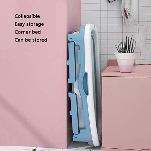 KJRJCQ 大人折りたたみバスタブ、折り畳み式のベビータブ、ポータブルバスタブ、家庭プラスチックホットタブ、カバー付きノンスリップ断熱 (Color : Pink)