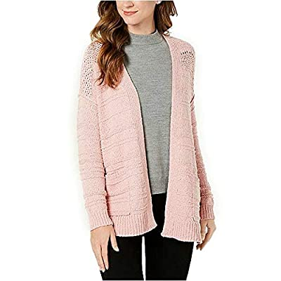 Style & Co. Open-Front Pointelle-Knit Cardigan, Hibiscus S at  Women's Clothing store