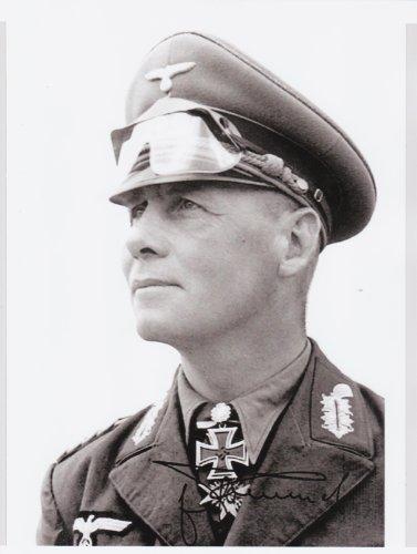 Kirkland Signature General Erwin Rommel WWII Hero 8 X 10 Photo Autograph on Glossy Photo Paper