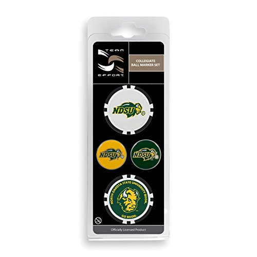 Team Effort North Dakota State Bison Ball Marker Set (Golf Two Balls Bison)