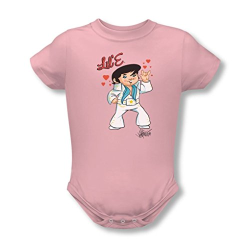 Elvis - Lil' E Infant T-Shirt In Pink, 6-12 Months, Pink (Elvis Onesie)
