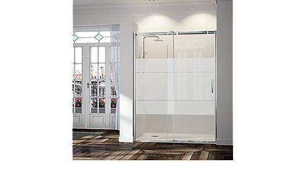 Frente de ducha TRIANA, puerta corredera CRISTAL DECORADO: Amazon ...
