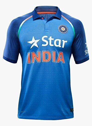 (KD Team India ODI Cricket Supporter Jersey 2016-2017 - Kids to Adult 2017 Plain Size 40)