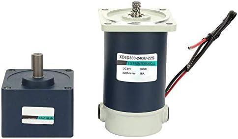 KAIBINY 速度減少モーター、高いねじり永久磁石DCギヤードメタルギア減速モーター15ミリメートルシャフト24V 300W(150RPM)
