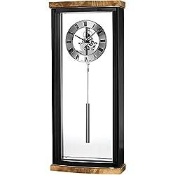 Bulova C3388 Landon High Gloss Clock, Piano Finish