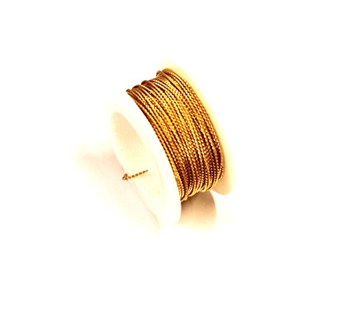 Red Brass Twisted Wire 20 Ga 10 Ft Spool ( Soft ) Solid Brass Wire