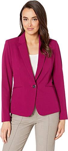 - Tahari by ASL Women's Bistretch One-Button Jacket Raspberry 12